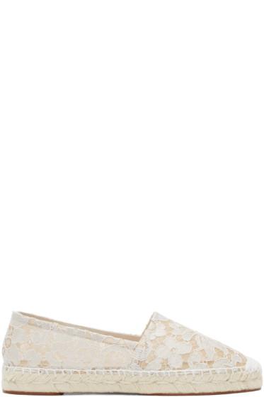 Dolce & Gabbana - White Lace Espadrilles