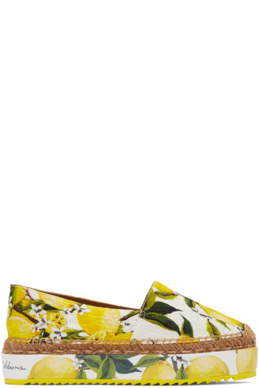 Dolce & Gabbana - Yellow & White Lemons Espadrilles