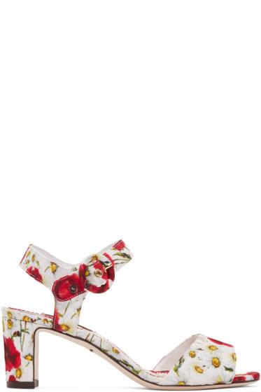 Dolce & Gabbana - Multicolor Floral Brocade Heels
