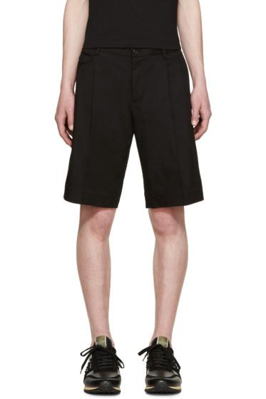 Dolce & Gabbana - Black Twill Bermuda Shorts