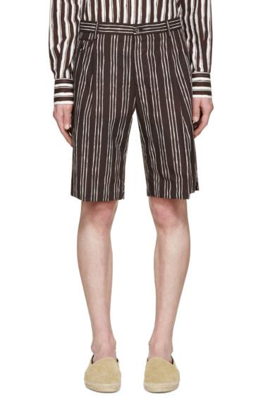 Dolce & Gabbana - Black Pinstriped Shorts