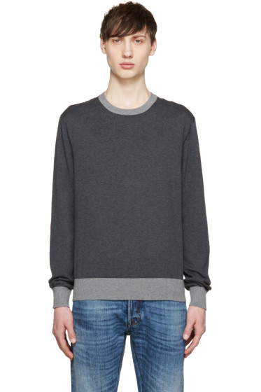 Dolce & Gabbana - Grey Two-Tone Pullover