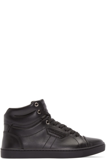 Dolce & Gabbana - Black London High-Top Sneakers