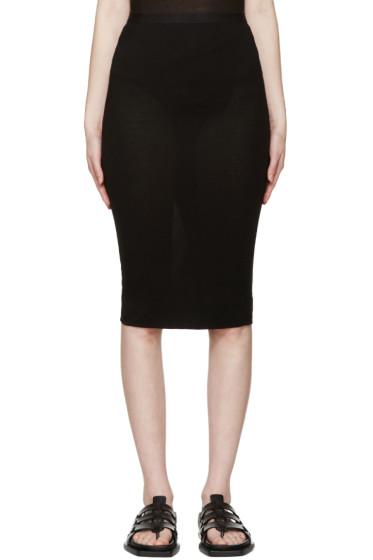 Rick Owens Lilies - Black Jersey Skirt