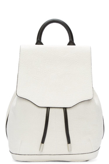 Rag & Bone - White Leather Mini Pilot Backpack