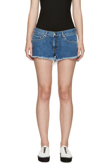 Rag & Bone - Blue Cut-Off Denim Shorts