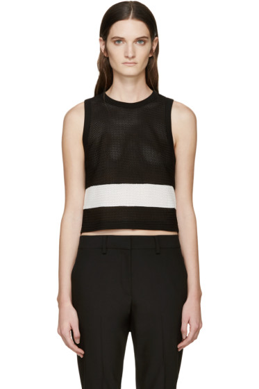 Rag & Bone - Black & White Knit Valerie Tank Top
