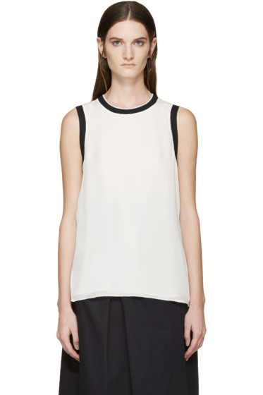Rag & Bone - Cream Silk Maude Tank Top