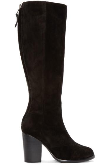 Rag & Bone - Black Suede Ashby High Boots