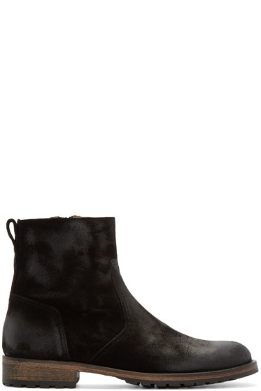 Belstaff - Black Suede Atwell Ankle Boots