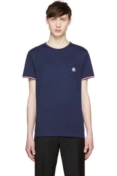 Moncler - Navy Pocket T-Shirt