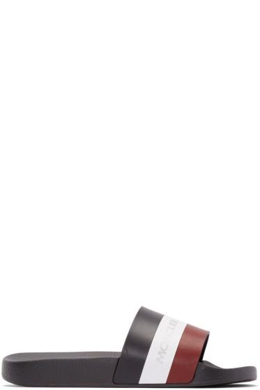 Moncler - Tricolor Leather Slide Sandals