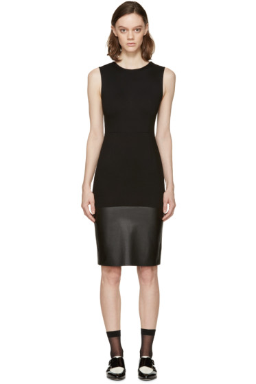 McQ Alexander Mcqueen - Black Leather Panel Dress