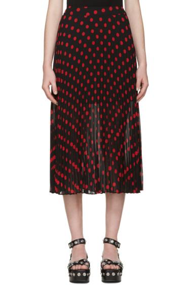 McQ Alexander Mcqueen - Black & Red Polka Dot Skirt