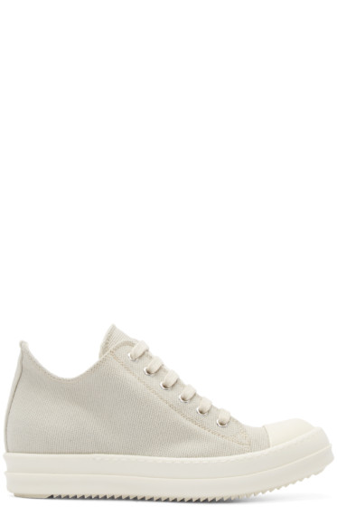 Rick Owens Drkshdw - Taupe Canvas Sneakers