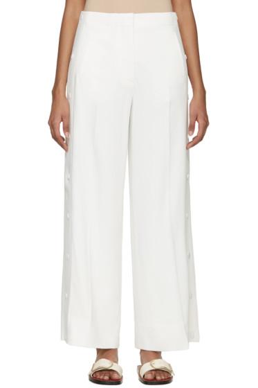 Acne Studios - White Crepe Oshea Trousers