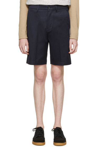 Acne Studios - Navy Cotton Adrian Shorts