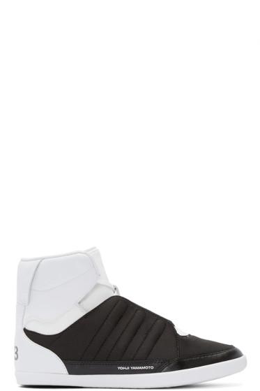 Y-3 - Black & White Honja High-Top Sneakers