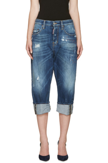 Dsquared2 - Blue Cropped Kawaii Jeans