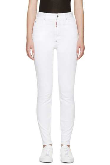 Dsquared2 - White High-Rise Twiggy Jeans