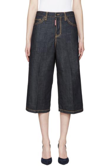 Dsquared2 - Blue Denim Wide-Leg Trousers