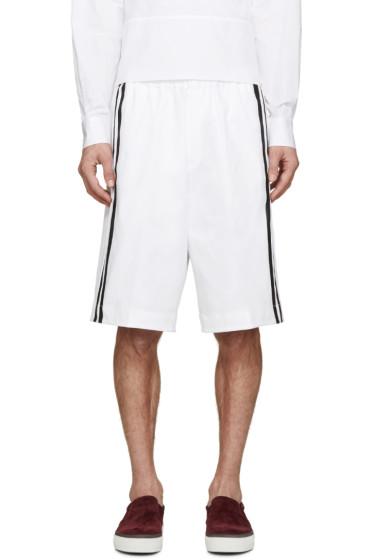 Dsquared2 - White Racing Stripe Shorts