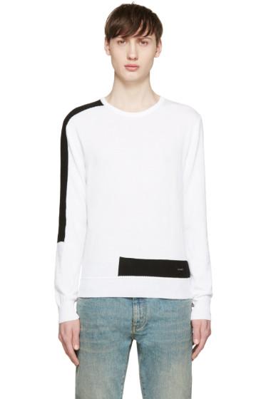 Dsquared2 - White & Black Techno Sweater