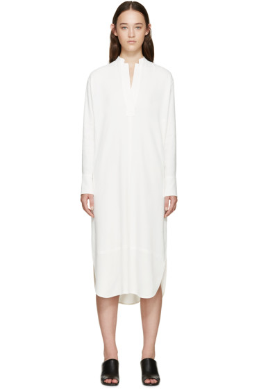 Helmut Lang - White Crepe Shirt Dress