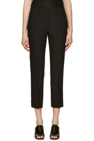 Helmut Lang - Black Cropped Wool Trousers
