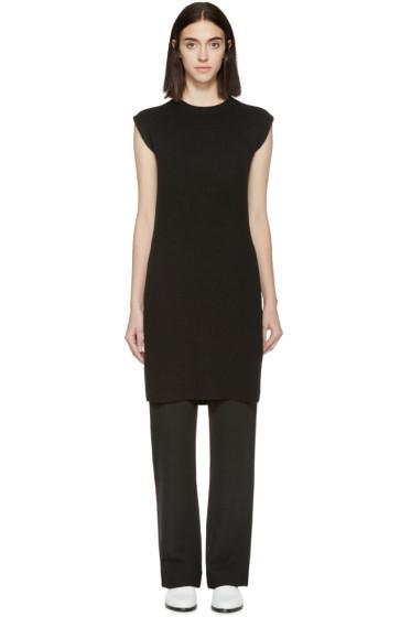 Helmut Lang - Black Sleeveless Tunic Sweater