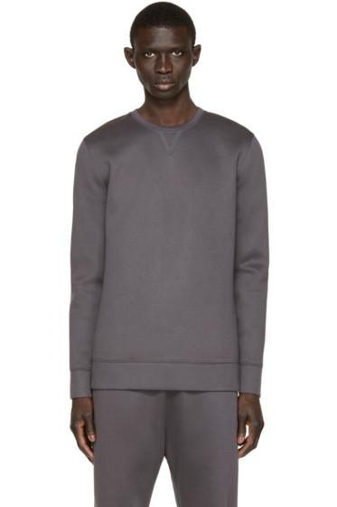 Helmut Lang - Grey Neoprene Taped Pullover