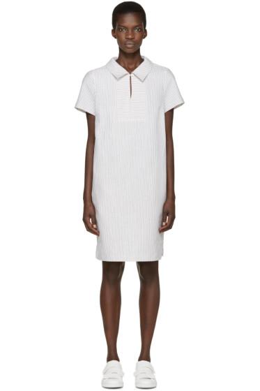 YMC - White Linen Pinstripe Dress