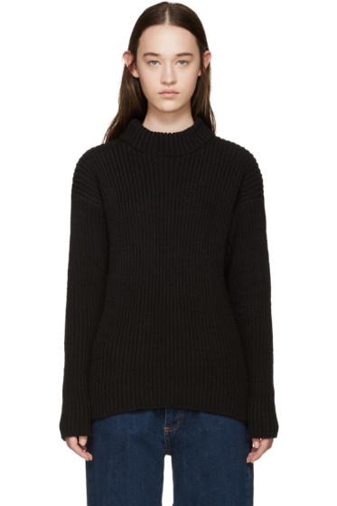 YMC - Black Linen Knit Sweater