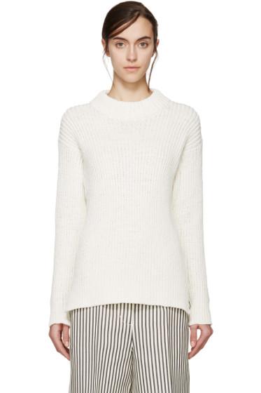 YMC - Cream Cotton & Linen Knit Sweater
