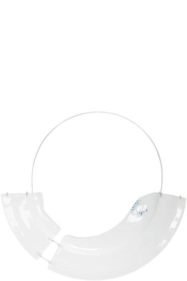 Maison Margiela - White Deconstructed Plate Necklace