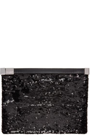Maison Margiela - Black Sequined Slim Clutch