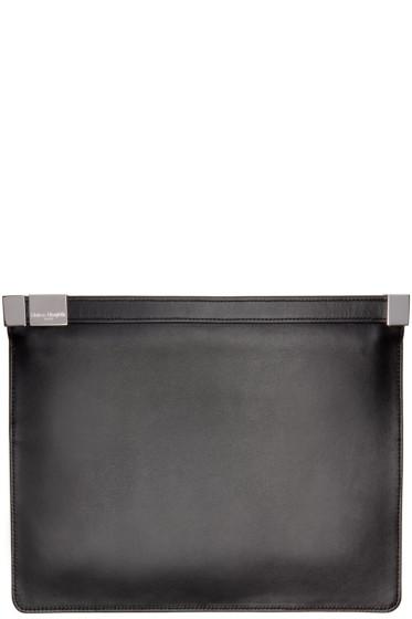 Maison Margiela - Black Leather Slim Clutch