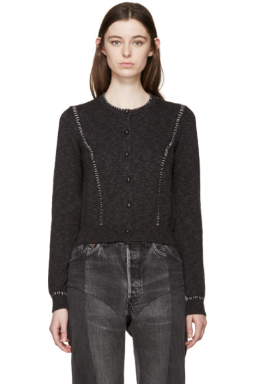 Maison Margiela - Grey Cropped Cardigan