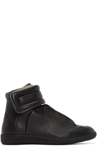 Maison Margiela - Black Leather Future High-Top Sneakers