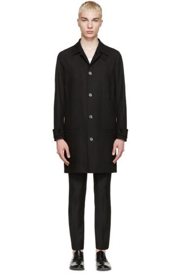 Maison Margiela - Black Cotton Twill Coat