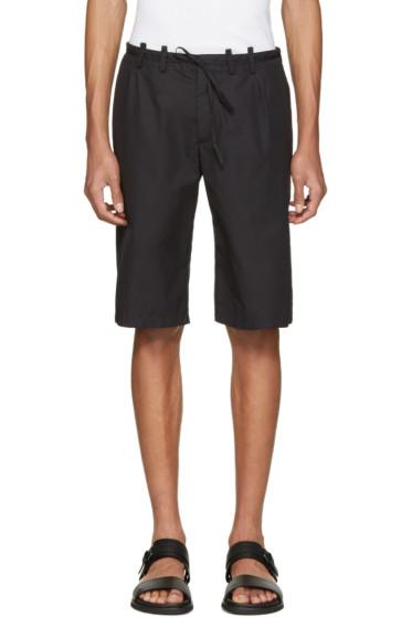 Maison Margiela - Black Micro-Gabardine Shorts