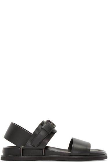 Maison Margiela - Black Leather Strap Sandals