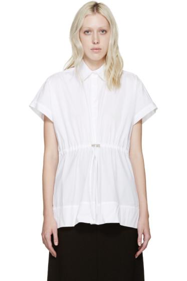 Christopher Kane - White Poplin Drawstring Shirt