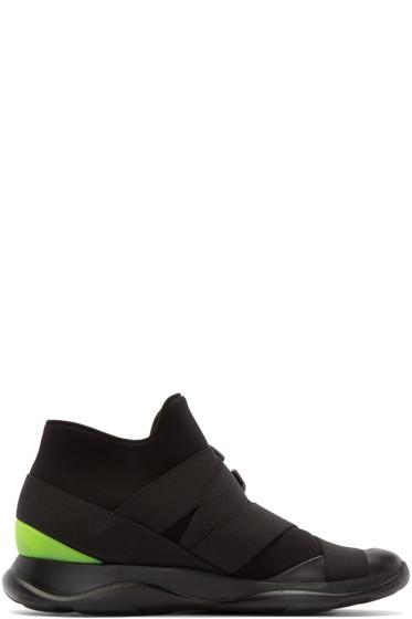 Christopher Kane - Black Neoprene High-Top Sneakers