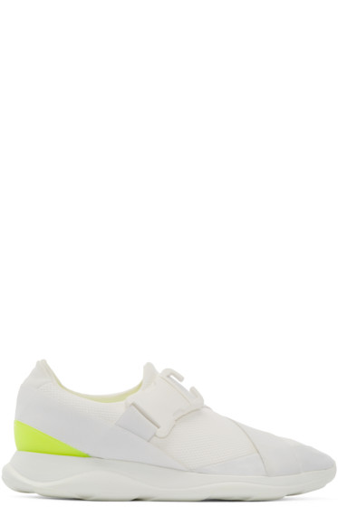 Christopher Kane - White Buckle Low-Top Sneakers