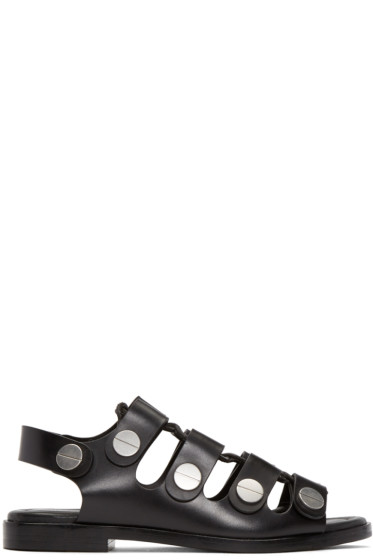 Alexander Wang - Black Lace-Up Patricia Sandals