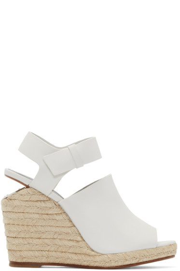 Alexander Wang - Off-White Leather Tori Sandals