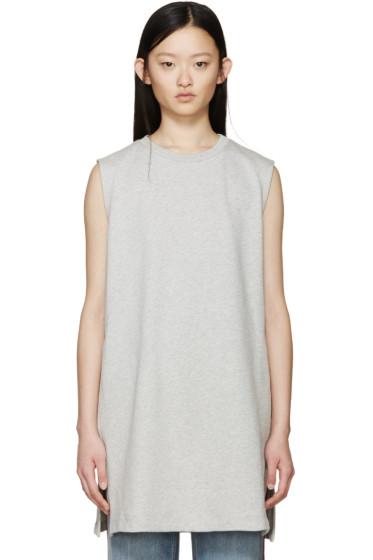 MM6 Maison Margiela - Grey Long Sleeveless Sweatshirt