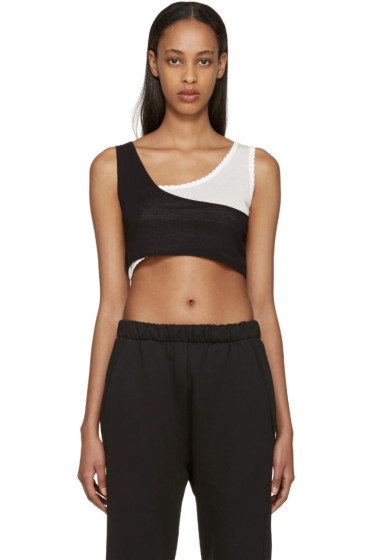 MM6 Maison Margiela - Black & White Layered Bra