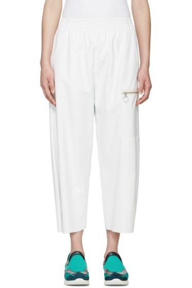 MM6 Maison Margiela - Off-White Faux Leather Pants